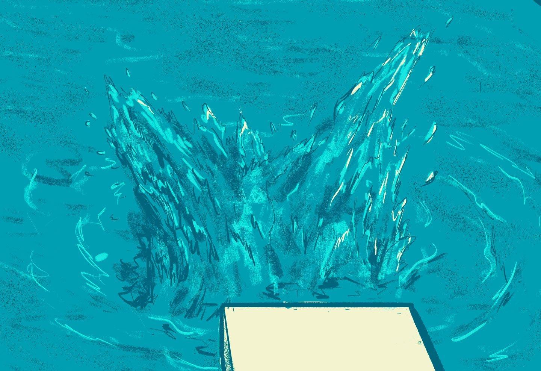 deatail pool water splash