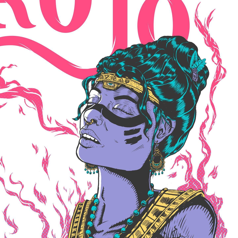 El Rojo Stoner Summer Poster Detail Girl
