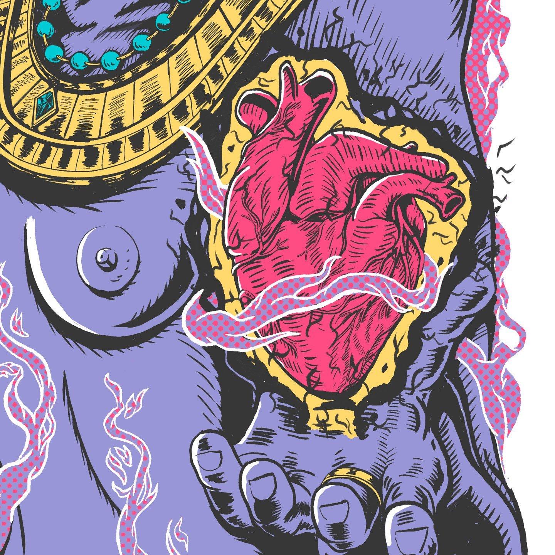 Stoner Summer Poster Detail Heart