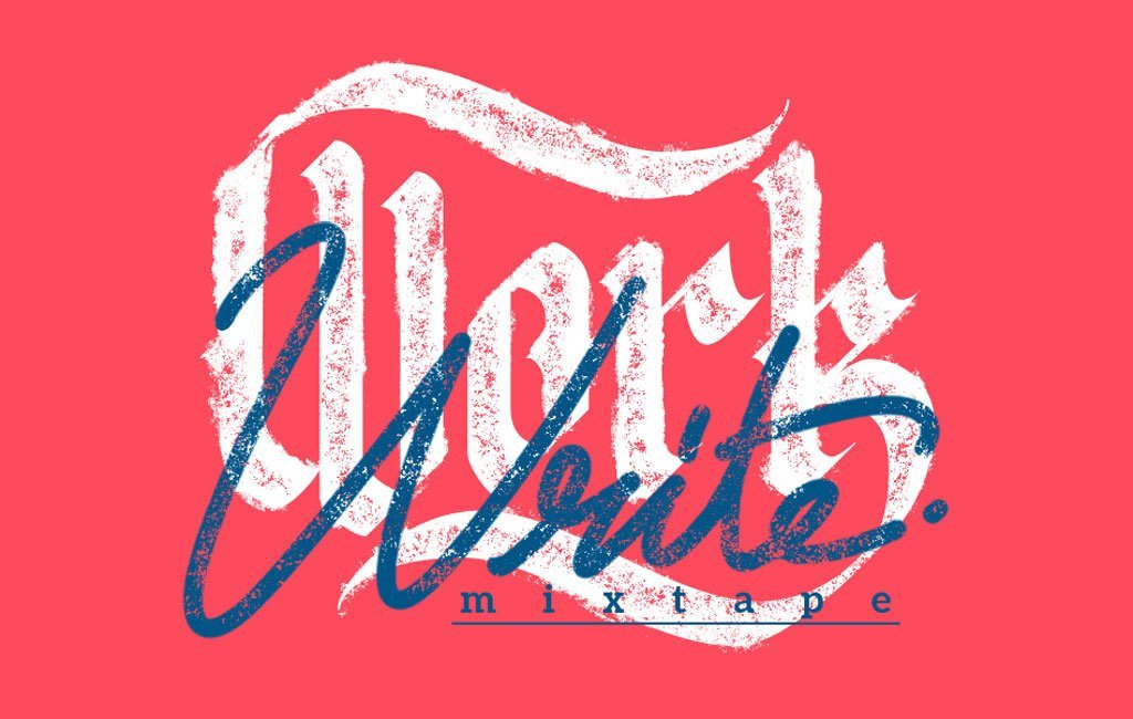 Work and Write album cover detail lettering title